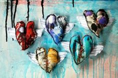 a healed heart (art therapy).  A beautiful idea for people grieving a loved one.