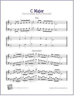 Free Printable Piano Scales for Young Pianists – Bluebird Music Lessons