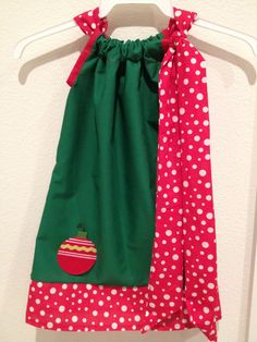 Christmas Pillowcase Dress by KimberlyCustomCrafts on Etsy, $22.00
