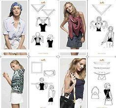 ETSYG® 32'' Silk Scarf Womens Elegant Fashion Pattern Large Scarves Square Shawl Neck Wrap Headscarf Headdress
