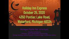 Oct 25th Michigan Psychic Fair in Waterford Best Psychics, Psychic Mediums, Palmistry, Spirit Guides, Card Reader, Tarot, Michigan, Mindfulness, Healing