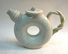 Donut Teapot  Stoneware by claypotential on Etsy, $90.00