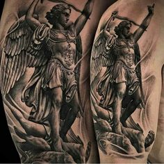 Saint Michael tattoo,,,loving this