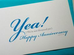Funny Anniversary Card by glamourGreets on Etsy, $3.50