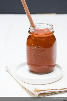 Chef Hansen: Rhabarbecue-Sauce, BBQ Sauce mit Rhabarber, selbstgemacht, Thermomix