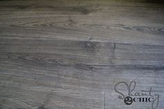 24 hour spill proof laminate! Love this Maison Oak flooring by Quick Step, it looks just like reclaimed hardwood!