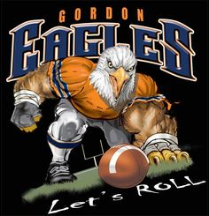football tshirt designs  | Eagles Football T-shirt at Color Creek T-shirts