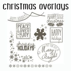 instant download psd photoshop christmas overlay set doodle set of 8 overlays - Christmas Overlays