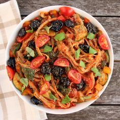 Mediterranean Vegetable Spaghetti - Forks Over Knives