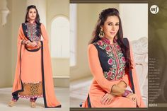 buy online Bollywood Celebrity latest Karishma Kapoor MF Georgette Salwar kameez & Suit Available here with best rate only at Maysha Fashion. All Fashion, Latest Fashion Trends, Fashion Outfits, Womens Fashion, Fashion Clothes, Black Salwar Suit, Day Dresses, Girls Dresses, Salwar Kameez