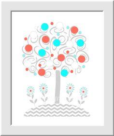https://www.etsy.com/es/listing/179589554/baby-nursery-wall-art-aqua-coral-gray?ref=related-4