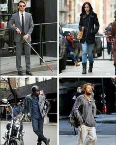 The Defenders! - Matt Murdock (Daredevil), Jessica Jones, Luke Cage, Danny Rand (Iron Fist)