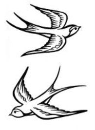 Only the best free Simple Swallow Tattoo Designs tattoo's you can find online! Simple Swallow Tattoo Designs tattoo's to print off and take to your tattoo artist. Retro Tattoos, Trendy Tattoos, Black Tattoos, New Tattoos, Dragon Tattoos, Hand Tattoo, Tattoo Henna, Wrist Tattoo, Tattoo Cake
