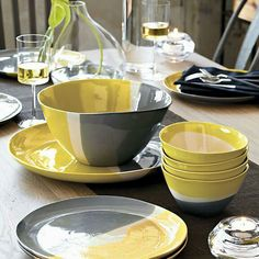 yellow and grey dishes | Color Palette Kitchen | Pinterest | Dishes Kitchens and Grey yellow & yellow and grey dishes | Color Palette: Kitchen | Pinterest | Dishes ...