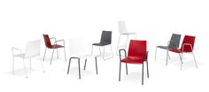 1300 #Paxo by Kusch+Co  Functionality combined with design. Plastic combined with steel. Quality combined with cost-effectiveness. A smart series, uniting a multitude of positive features, that is characterized by an architectural, clear-cut design language. Ideally suited for all environments where good-looking, comfortable and versatile seating is required.