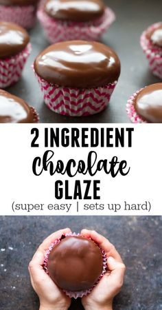 A deep, dark chocolate glaze is the perfect finishing touch to any decadent dessert- Only 2 ingredients!