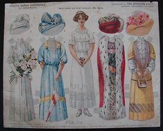 Boston Post Polly's Paper Playmates Paper Dolls Dec. 11, 1910