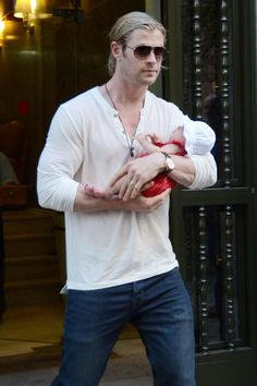 Chris Hemsworth. See 37 other hot celebrity dads with their adorable kids.
