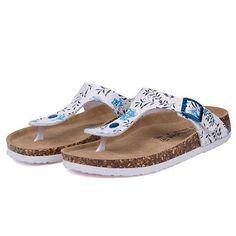 a34b5b72a14 Beach Cork Flip Flops Slipper Mixed Color Slip on Sandals
