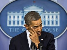 Obama sheds tears while giving remarks at the White House in the aftermath of the Newtown shooting.