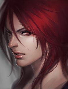 Anime picture league of legends shyvana (league of legends) arieaesu long hair single tall image looking at viewer open mouth red eyes red hair lips realistic portrait face girl 308254 en Shyvana League Of Legends, Katarina League Of Legends, Lol League Of Legends, Fantasy Women, Fantasy Art, Character Portraits, Character Art, Character Ideas, Fantasy Characters