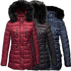371333a49e6c09 Navahoo Ilyana Damen Winter Mantel Jacke Stepp Warm Damenjacke Damenmantel  Lang in Kleidung & Accessoires,