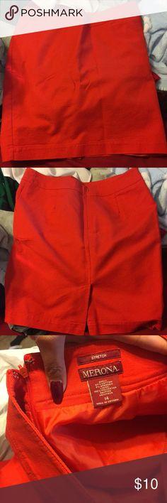 Skirt Red stretch skirt Merona Skirts