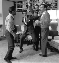 Caught on camera... the intimate photos that show the Rat Pack in full swing