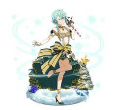 MERRY CHRISTMAS MY LOVE!!! Online Anime, Online Art, Shino Sao, Sinon Ggo, One Punch Anime, Asada Shino, Character Art, Character Design, Beautiful Girl Drawing