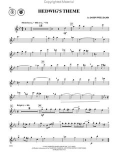 Hedwig's Theme Harry Potter sheet music :) it's so BEAUTIFUL ...