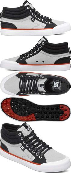 big sale a16ab afa5d DC Men s Evan Smith Hi Skate Shoe, Black Grey, 11 M US. Smiths Shoes ...