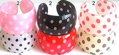 Polka Dot Bangles $5.00 from Sexy Modest Boutique in all sorts of colors. Free Shipping.