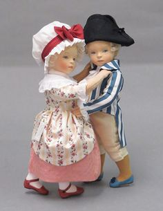 george and martha ~ by doll artist r. john wright