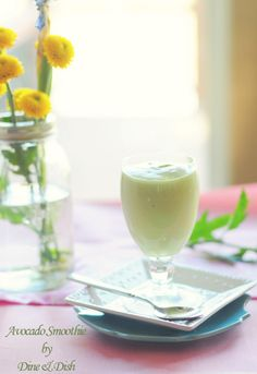 A thick and creamy Avocado Smoothie / Milkshake. So good!   from @Kristen @DineandDish