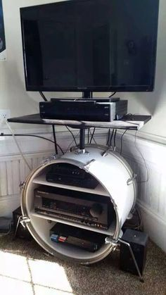 Creative way to reuse an old kick drum!