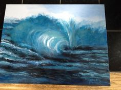 Waves #5 acrylic Painting Inspiration, Watercolor Art, Art Drawings, Waves, Paintings, Watercolor Painting, Painting, Ocean Waves, Watercolour