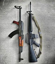 "1,290 отметок «Нравится», 10 комментариев — DJTackleberry (@10_8guns) в Instagram: «I call this picture, ""Controversy"" #ak47 #AR15 #m16 #m16a1 #thisorthat #556 #gunsdaily #pewpew…»"