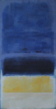 "dailyrothko: "" Mark Rothko,  Untitled (Blue, Dark Blue, Yellow) """