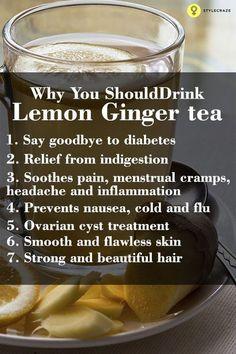 Hypothyroidism Diet - Lemon ginger tea – Health benefits Get the Entire Hypothyroidism Revolution System Today Detox Drinks, Healthy Drinks, Healthy Food, Herbal Remedies, Health Remedies, Natural Cures, Natural Health, Lemon Uses, Hypothyroidism Diet