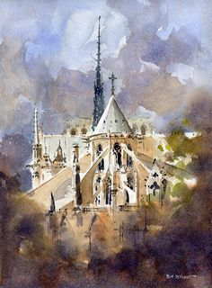 Apse End- Notre Dame by Iain Stewart ~ 14 x 10