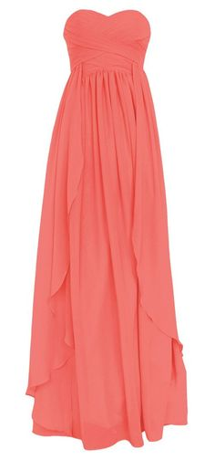 *Maillsa 2014 New Sweetheart Long Chiffon Dress PP34 different colors available