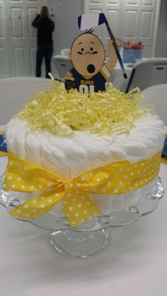 Hockey baby shower centerpiece