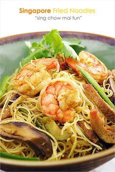 Singapore fried rice noodles