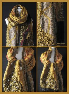 RESERVED Luxurious Ethnic Shawl Wrap Stole by MADAMECHICDEFRANCE, $380.00