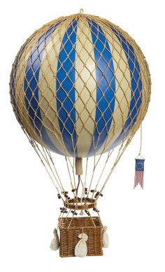 Vintage Hot Air Balloon (Blue) by Oliver's Twisty Tales