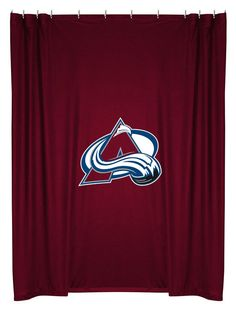 Colorado Avalanche NHL Sports Coverage Team Color Shower Curtain #SportsCoverage #ColoradoAvalanche