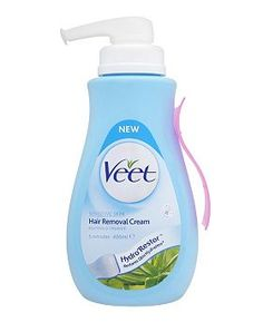 Veet Hair Removal Cream with Aloe Vera and Vitamin E for Sensitive Skin 400ml - Boots