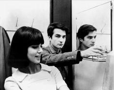 Jean-Pierre Léaud and Chantal Goya in Masculin féminin directed by Jean-Luc Godard, 1966