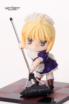 SD Saber Maid Fate Stay Night Hand Painted Resin Garage Kit Yetiart Figure | eBay