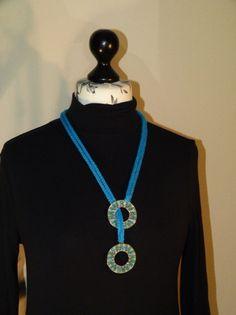 """Statement Ketten - Stricklieselkette """"Modern Upcyc"""" - ein Designerstück von Nadeltasse bei DaWanda Shops, Washer Necklace, Modern, Etsy, Jewelry, Fashion, Neck Chain, Moda, Tents"""